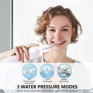 Image 5 - 新 3 モード口腔洗浄器 usb 充電式水フロッサヘッドポータブル歯科水ジェット 5 ジェットのヒント歯クリーナー 300 ミリリットル水タンク