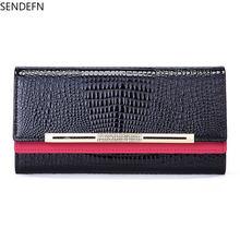 Женский дизайнерский кошелек sendefn клатч из натуральной кожи