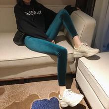 Velvet Legging Pants Womens Tight pants Slim Casual Cotton High Waist Comfortable Elastic Skinny Lady velvet Trousers