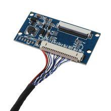 1Set LVDS 1ch 8Bit 20Pin to 40Pin TTL 신호 LCD 드라이버 보드 컨버터 보드, 7 10.1 인치 1024x768 LCD 패널 (케이블 포함)