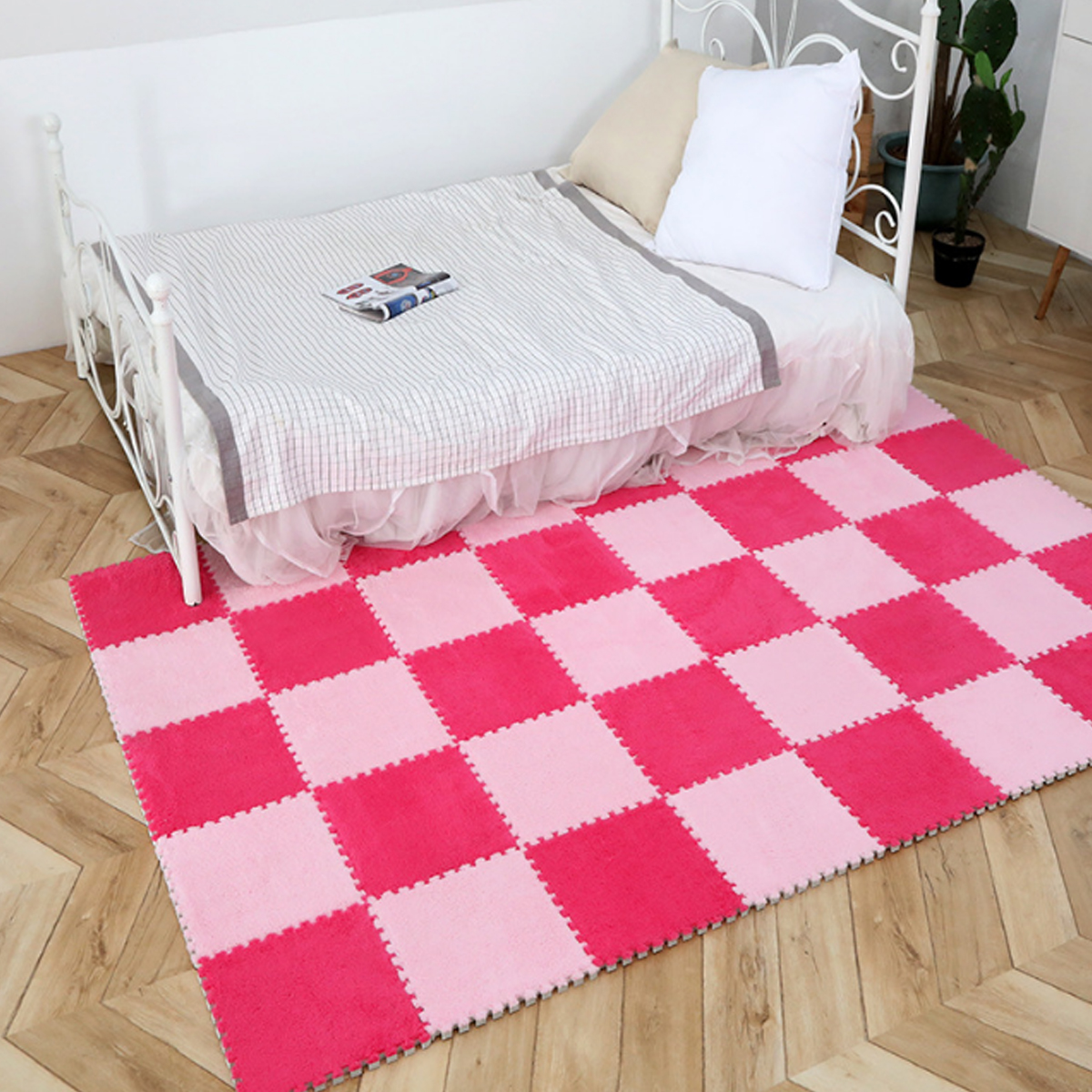 5Pcs/Set DIY Puzzle Magic Patchwork Jigsaw Splice Heads Living Room Bedroom Children Kids Soft Carpet Floor Climbing Baby Mat