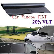 300x50cm Building Tinting Film Roll Side Window Solar UV Protection Sticker VLT Black Auto Car Home Window Glass Curtain Scraper 20% vlt black pro car home glass window tint tinting film roll car window foils anti uv solar protection sticker films scraper