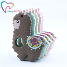 1 PC Silicone Llama Baby Teether Rodent Sheep Cute Baby Teet