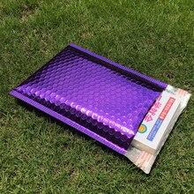 30 pièces différentes spécifications violet placage plastique enveloppes à bulles Mailers rembourré sac dexpédition étanche bulle sac dexpédition