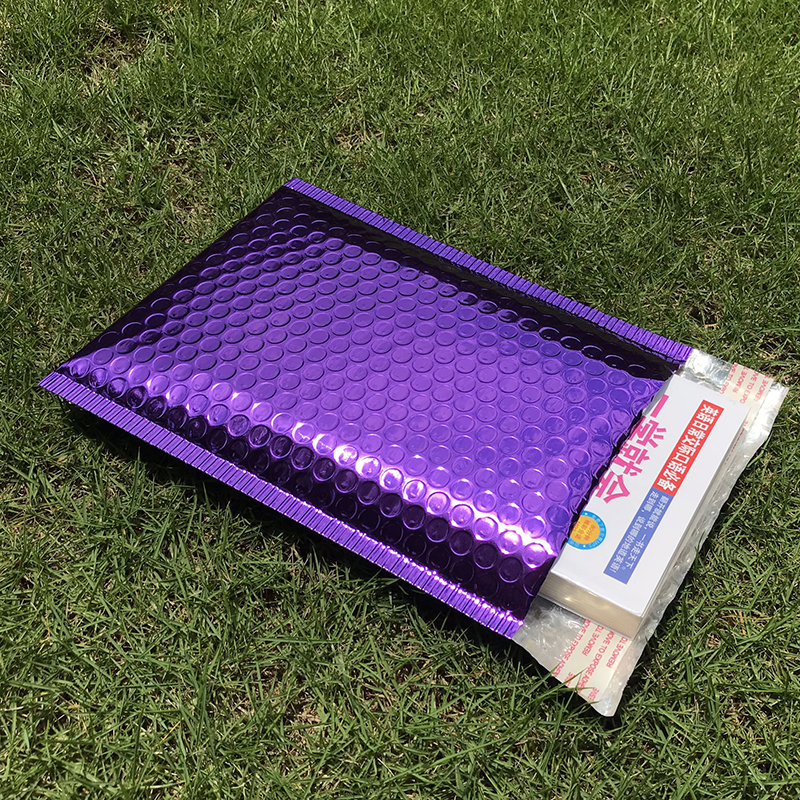 30PCS Different Specifications Purple Plating Plastic Bubble Envelopes Mailers Padded Shipping Bag Waterproof Bubble Mailing BagPaper Envelopes   -