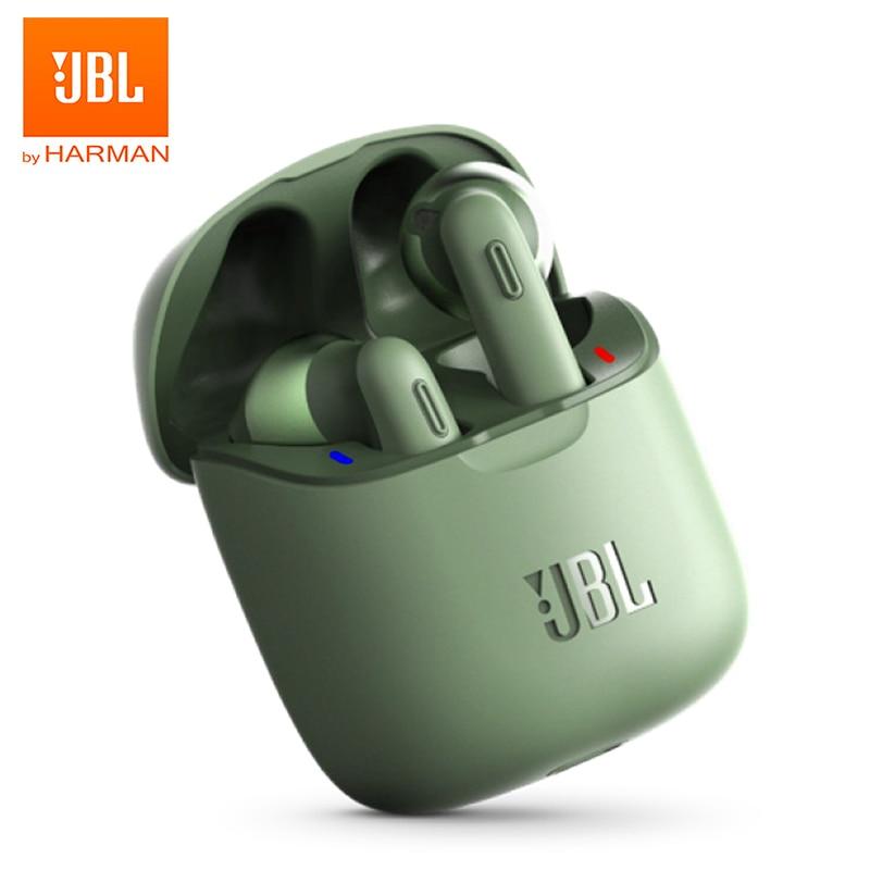 TWS Bluetooth наушники JBL TUNE 220, Беспроводные стереонаушники T220TWS, наушники с басами, гарнитура с микрофоном, зарядный чехол