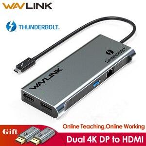 Thunderbolt 3 Dual Displayport 4K/Enkele 5K @ 60Hz Monitor Mini Docking Station Dp Naar Hdmi adapters 40Gbps Usb 3.0 Online Werken