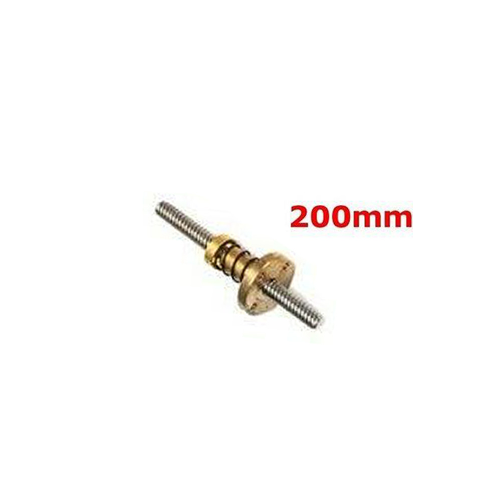 Anti-Backlash Nut 3D Printer 8mm T8x2 Lead Screw 200-500mm Trapezoidal Acme Rod