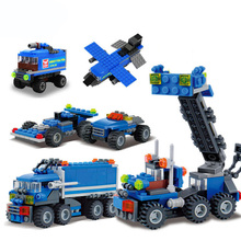 3 IN 1 Urban Freight Building Blocks Bricks Compatible City Truck Blocks Educational Toys For Children DIY Bricks Gift hsanhe mini building blocks bricks architecture diy toys kids educational compatible legoe city bricks toys gift for children