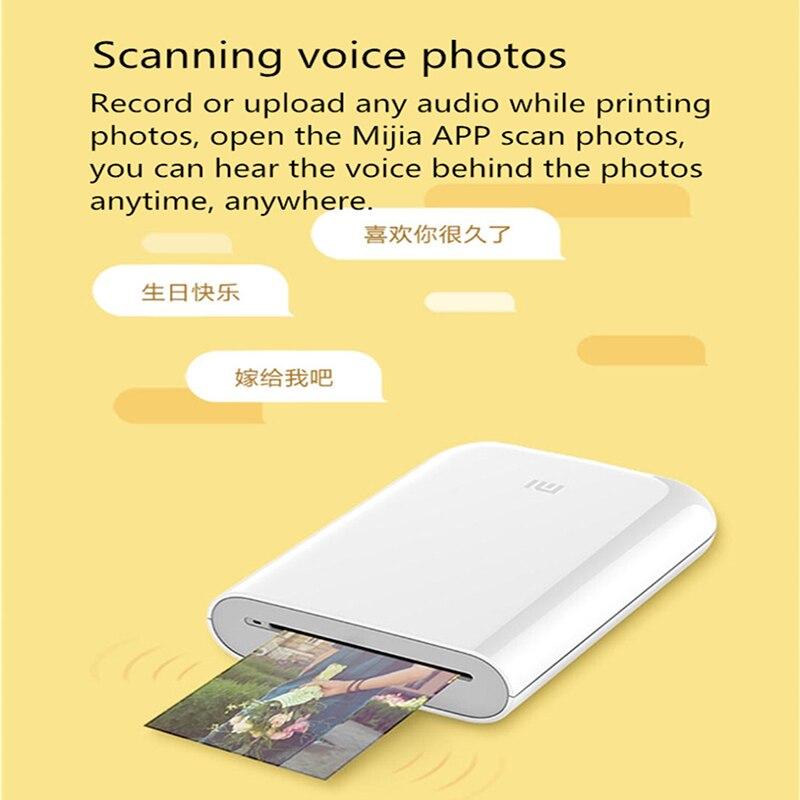 lowest price XiaoMi Mijia AR Printer 300dpi Portable Mini Travel Party Photo Picture Printer Pocket Camera DIY Share 500mAh Picture