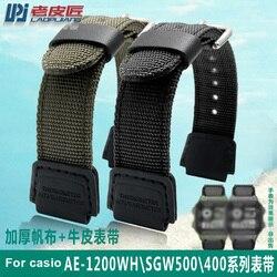 Nato nylon watch strap for casio GA100/110 DW-5035D/6600 GW-M5610 AE-1200WH-1B/SGW-300H/400/SGW-500 8/5000 watch band 16mm 18mm