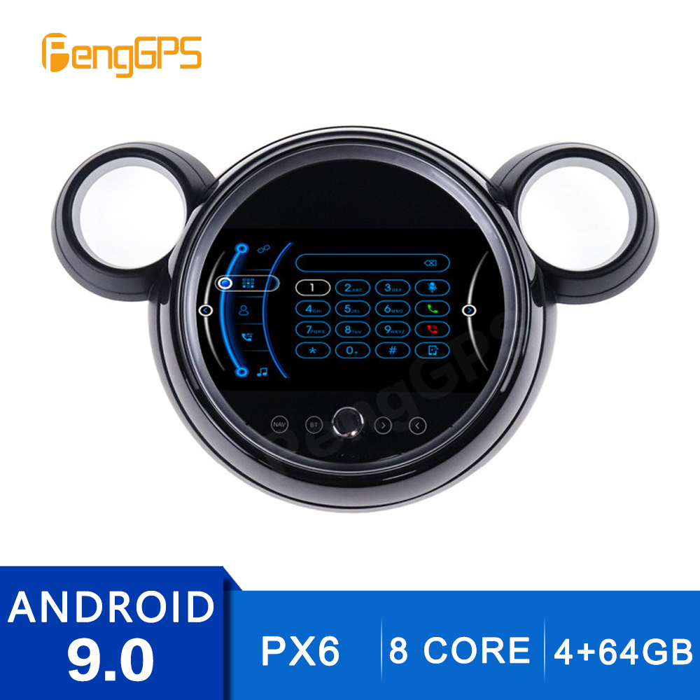 9 Inch 4+64G 2 Din Stereo Android 9.0 For BMW Mini One F55 F56 Cooper 2007-2014 GPS Navigation DVD Player Radio Multimedia Unit