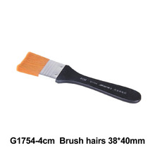 No. 4 Paint Brush Long Flat Head Cleaning Brush Gouache Acrylic Painting Brush Oil Brush Painting Wall Art Supplies 9 pieces long handle oblique flat art paint brush value set for oils acrylic gouache