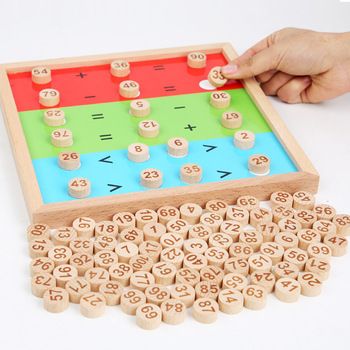 Newest Wooden Math Toys for Children Montessori Materials Learning To Count Numbers Early Mathematics Education for Babies baby toy montessori material math introduction to decimal symbol wooden learning numbers early education children toy
