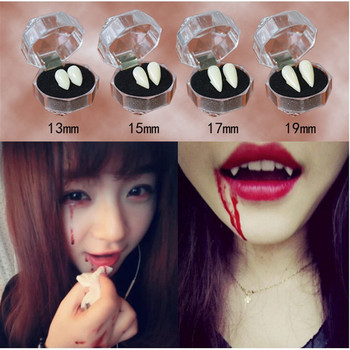 4 size Vampire Teeth Fangs Dentures Props Halloween Costume Props Party Holiday DIY Decorations Horror Adult For Kids image