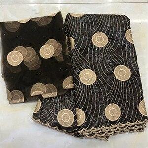 Image 1 - bazin riche brocade 2019 new design bazin riche fabric tissu african bazin lace with embroidery and stones guinea brocade fabric