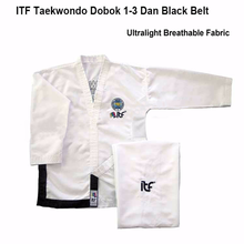 2020 Ultralight White ITF Taekwondo assistant instructor Doboks Adult Embroidery Uniform Martial Arts Kimono for 1-3 Dan Gi super deal japan kendo aikido iaido hakama gi martial arts uniform sportswear dobok sets coat and culottes free collocation