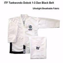 2020 Ultralight White ITF Taekwondo assistant instructor Doboks Adult Embroidery Uniform Martial Arts Kimono for 1-3 Dan Gi original jcalicu world taekwondo poomsae dan doboks jc wt junior dan male