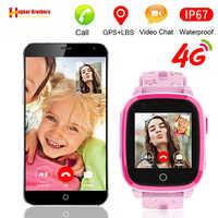 IP67 impermeable inteligente 4G cámara remota GPS WI-FI niños estudiantes reloj de pulsera SOS Video llamada Monitor localización reloj