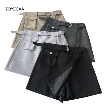 Summer Womens Skirt Preppy Style High Waist Ladies Girls Skirts Fashion Casual Women Mini Skirt Slim Waist Solid Short Skirts shein girls black solid button up belted casual girls skirts kids clothing 2019 spring fashion a line preppy long flared skirts