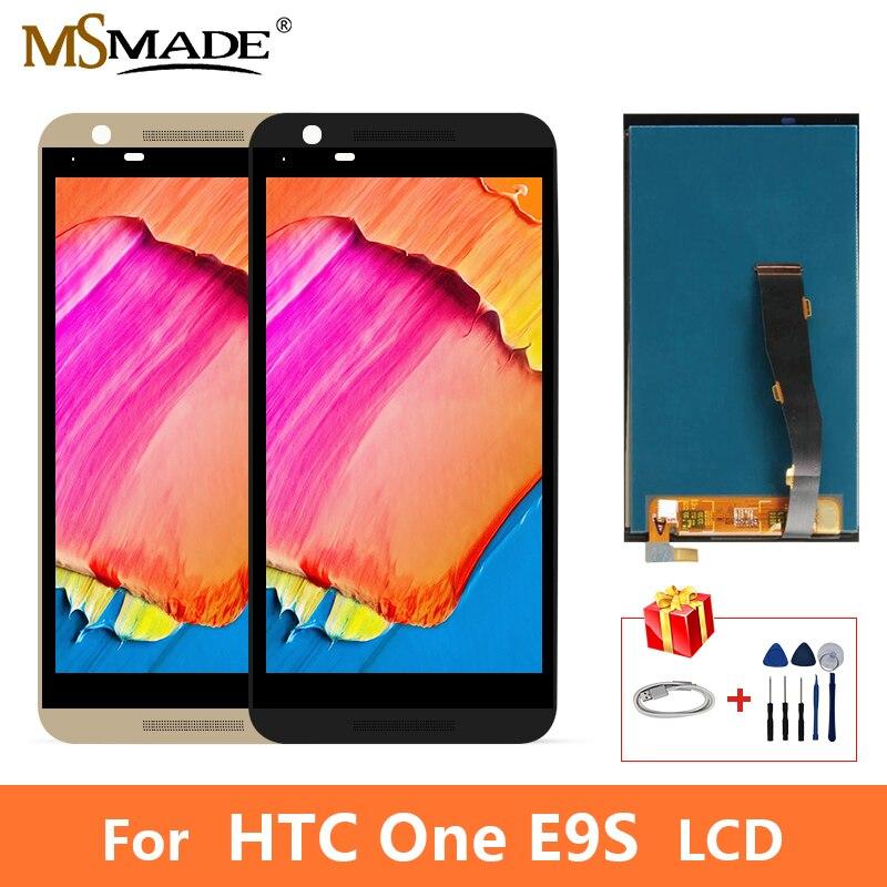 Nuovo Per HTC Un E9S E9W E9T Display LCD di Tocco Digitale Dello Schermo di Parti di Ricambio Con Telaio di Trasporto libero + Regalo