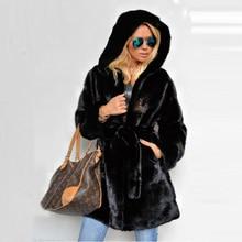 Fashion Long Mink Fur Coats for Women Winter Outwear High Quality Whole Skin Mink Fur Coat Genuine with Hood Warm Fur Overcoats