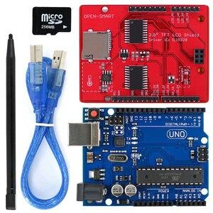Image 2 - 2.8 inç TFT LCD Shield + UNO R3 kurulu ile TF kart/dokunmatik kalem/USB kablosu Arduino UNO için /Mega2560/Leonardo