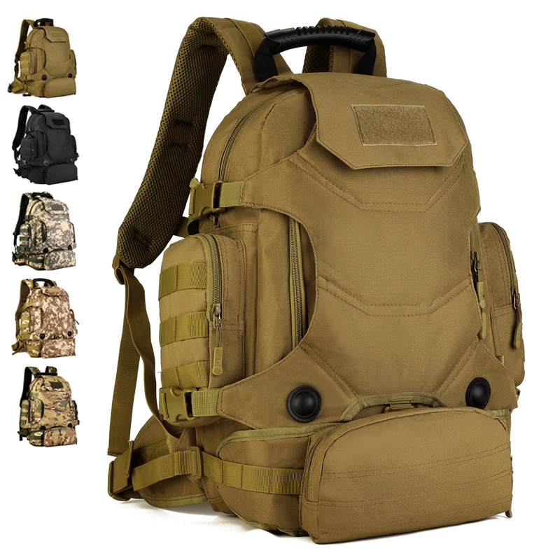 40L sac à dos extérieur Molle 2 en 1 militaire tactique sac à dos sac à dos sac de sport étanche Camping randonnée sac à dos pour voyage