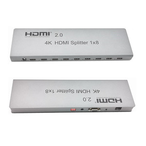 Image 2 - 4K/60Hz HDMI Splitter 1x8,Split 1 In 8 Out Hdmi Connector,Male to Male Adapter,Full 1080p,3D EDID/RS232 Control For Digita HDTV