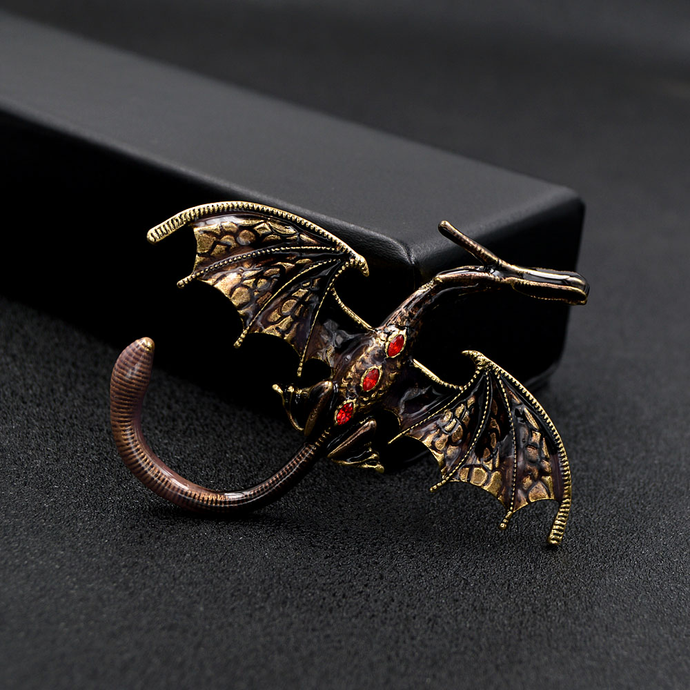 CINDY XIANG New Arrival Enamel Dragon Brooch Unisex Women And Men Pin Animal Large Brooches 5 Colors Available Gift 6