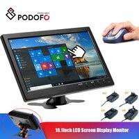 Podofo CAR HD 1024*600 10.1 Inch Color TFT LCD Screen Slim Display Monitor for Truck Bus Vehicle Support HDMI VGA AV USB SD Port