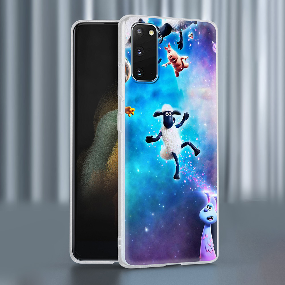 Case For Samsung Galaxy S20 FE S21 Ultra S9 S10 Plus S8 Note 20 10 Lite Soft Frosted Phone Cover S7 Funda Cute Sheep Cartoon