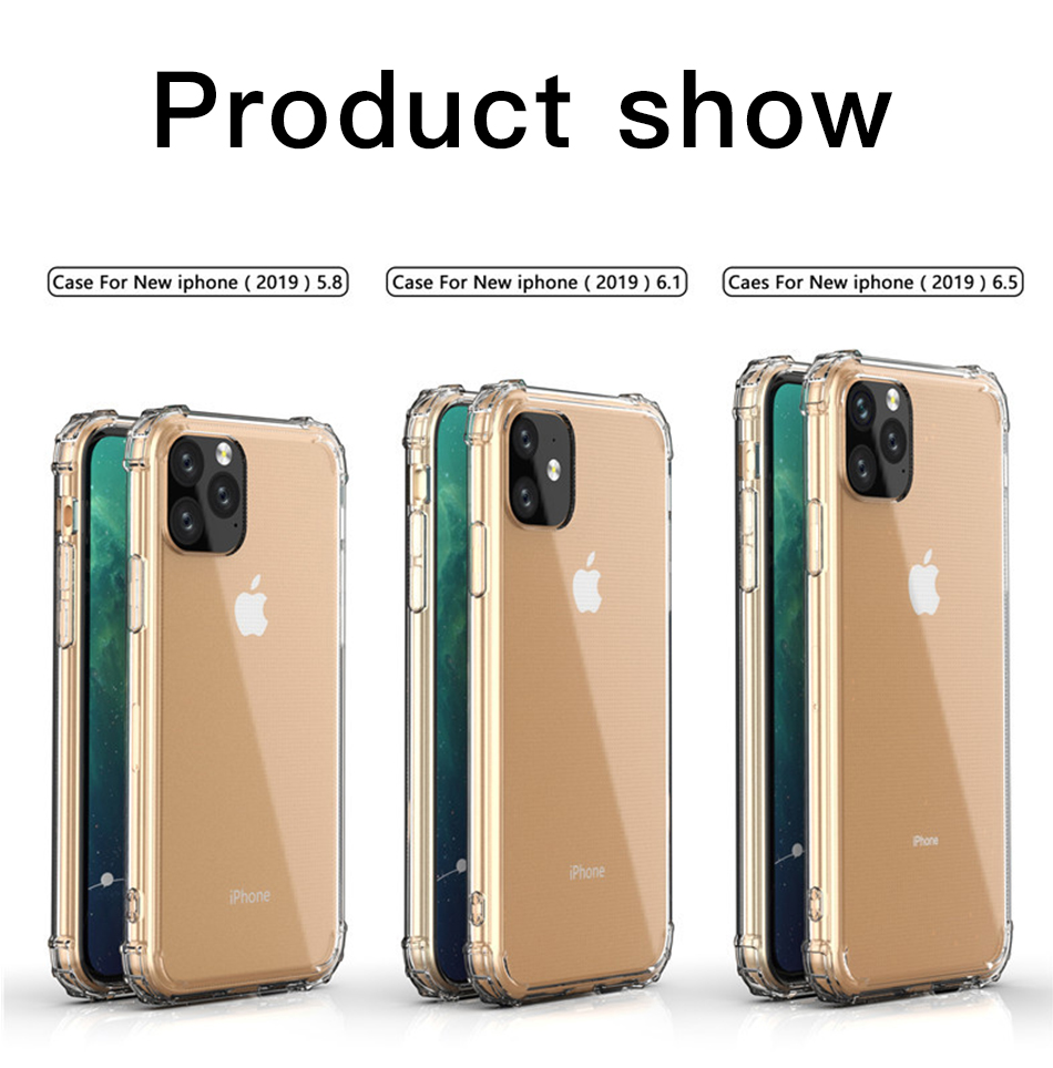 !ACCEZZ For iPhone 11 Case 2019 For iphone 11 Pro Max New Soft Cases Transparent Protection Back Cover Mobile Phone Shell Coque (7)