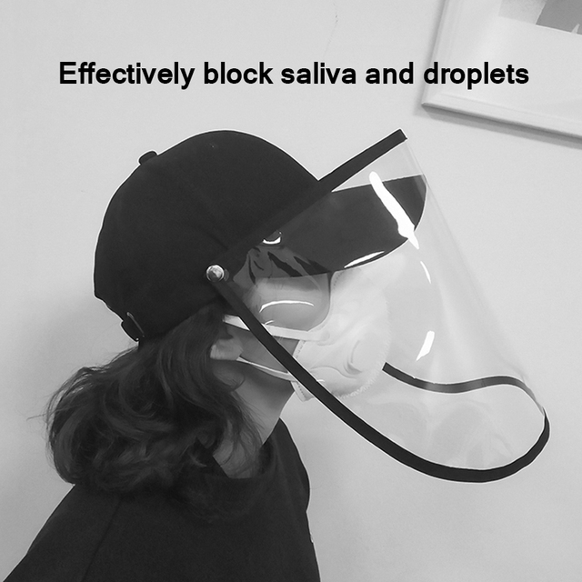Anti Droplet Baseball Cap Hat With Removable Mask For Outdoor Anti Dust Face Shield Full Protective Mask
