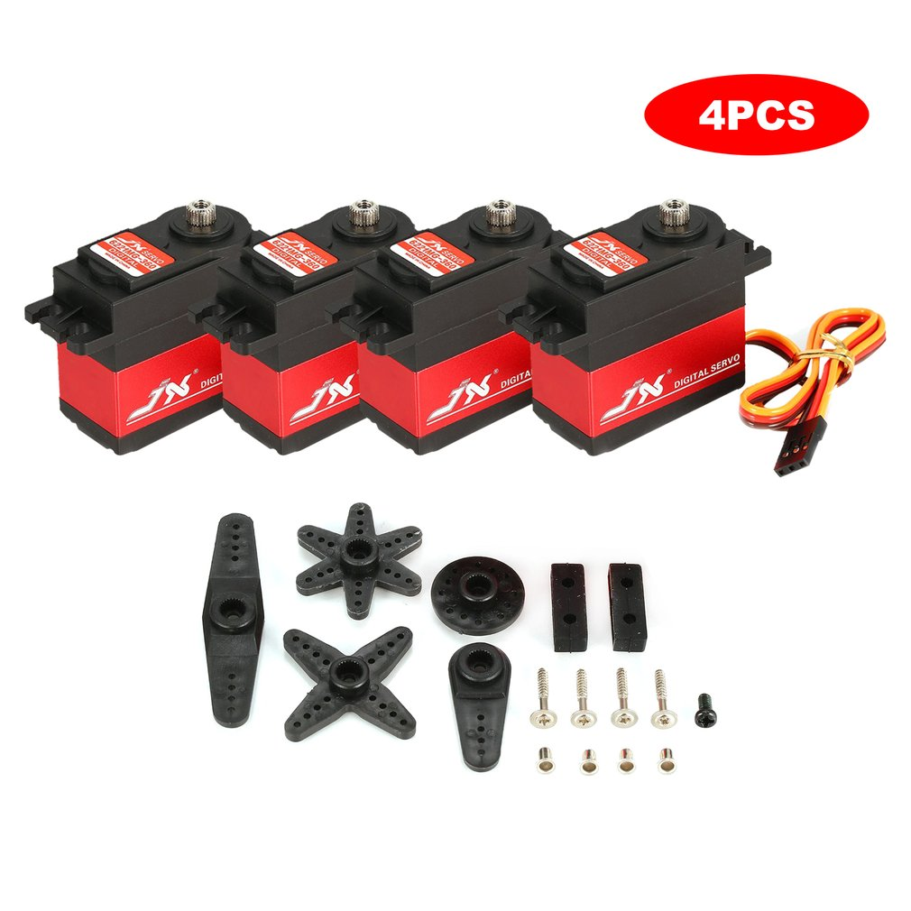 4PCS JX PDI 6221MG 20KG 4.8V-6V Large Torque 360 Degree Digital Servo For <font><b>1/10</b></font> 1/8 RC Car Boat Spare Parts <font><b>Accessories</b></font> image