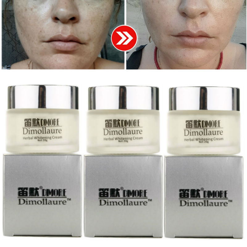 Dimollaure Herbal Whitening Freckle Cream Removal Melasma Pigment Melanin Pregnant Scar DIMORE Face Cream
