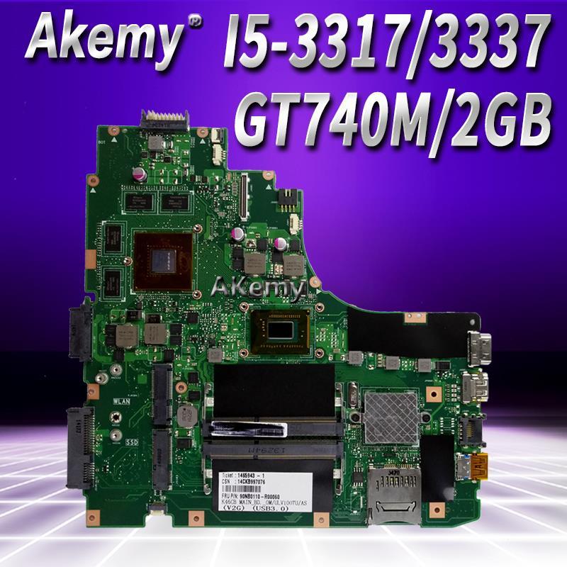 K46CB placa base de computadora portátil I5 3317/3337 GT740M para ASUS A46C S46C E46C K46CB K46CM prueba placa base de prueba 100% ok-in Placas base from Ordenadores y oficina on AliExpress - 11.11_Double 11_Singles' Day 1