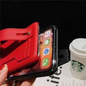 Image 5 - Moda yaratıcı bileklik gelgit telefon kılıfı için iphone X XR XS MAX 6 6S 7 8 artı paramparça dayanıklı braket saklama kutusu arka kapak