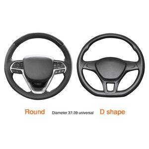 Image 4 - Protector Universal para volante de coche, antideslizante, de cuero, accesorios de coche