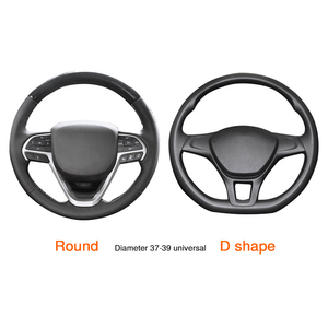 Image 4 - Universal Car Steering Wheel Cover Skidproof Auto Steering  Wheel Cover Anti Slip Embossing Leather Car styling Car Accessories