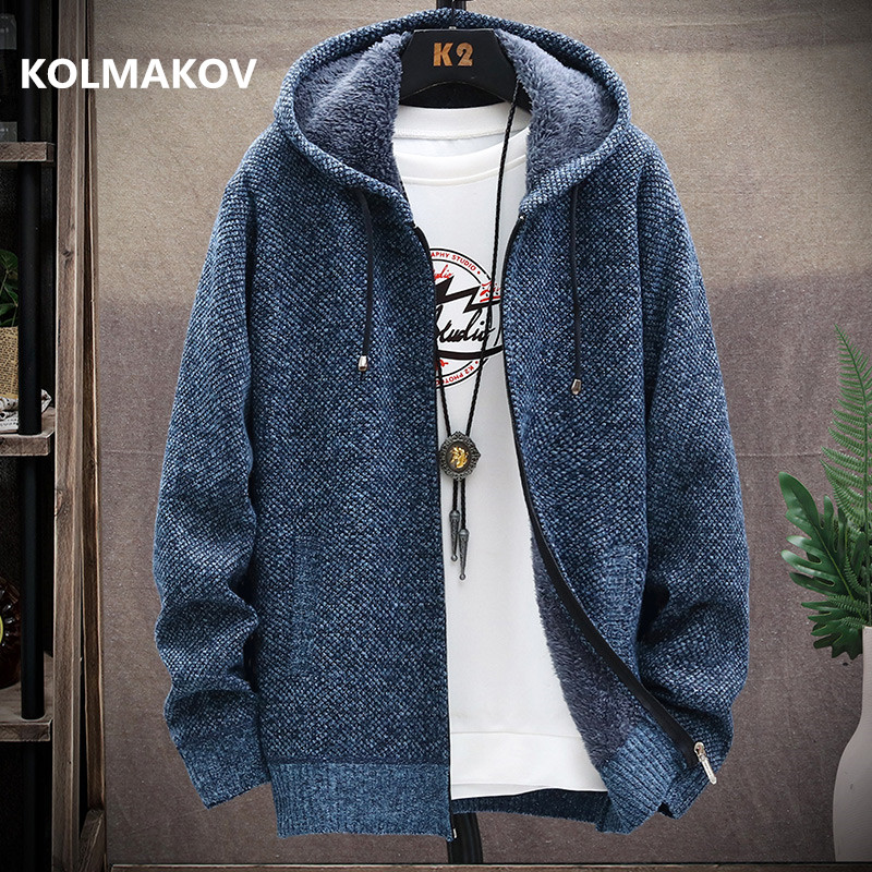 2020 winter new arrival Men's Knitted thicken Mens Coats Male Sweater Casual Keep warm Male Cardigan Sweaters Men, size M-3XL