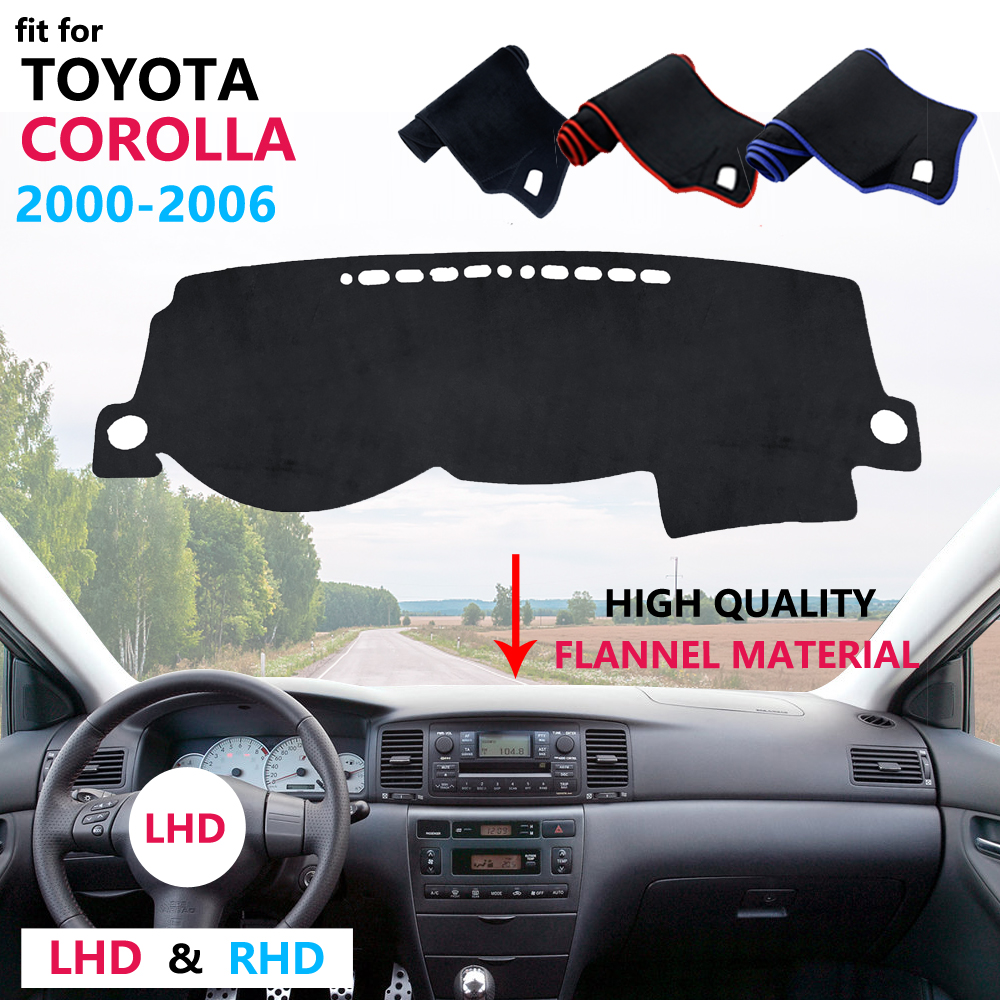 for Toyota Corolla E120 E130 2000 2001 2002 2003 2004 2005 2006 Dashboard Cover Protective Pad Carpet Flannel Mat Sunshade image