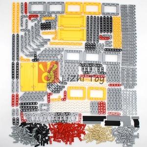 Image 2 - 548PCS בלוקים טכני חלקי Liftarm קרן צלב סרן מחבר לוח MOC אבזר צעצועי מכאני רכב בתפזורת תואם Legoeds