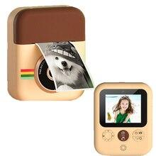 Детская камера мгновенная печать камера для детей 1080P Цифровая камера с термобумагой детская игрушечная камера для подарка на день рождени...