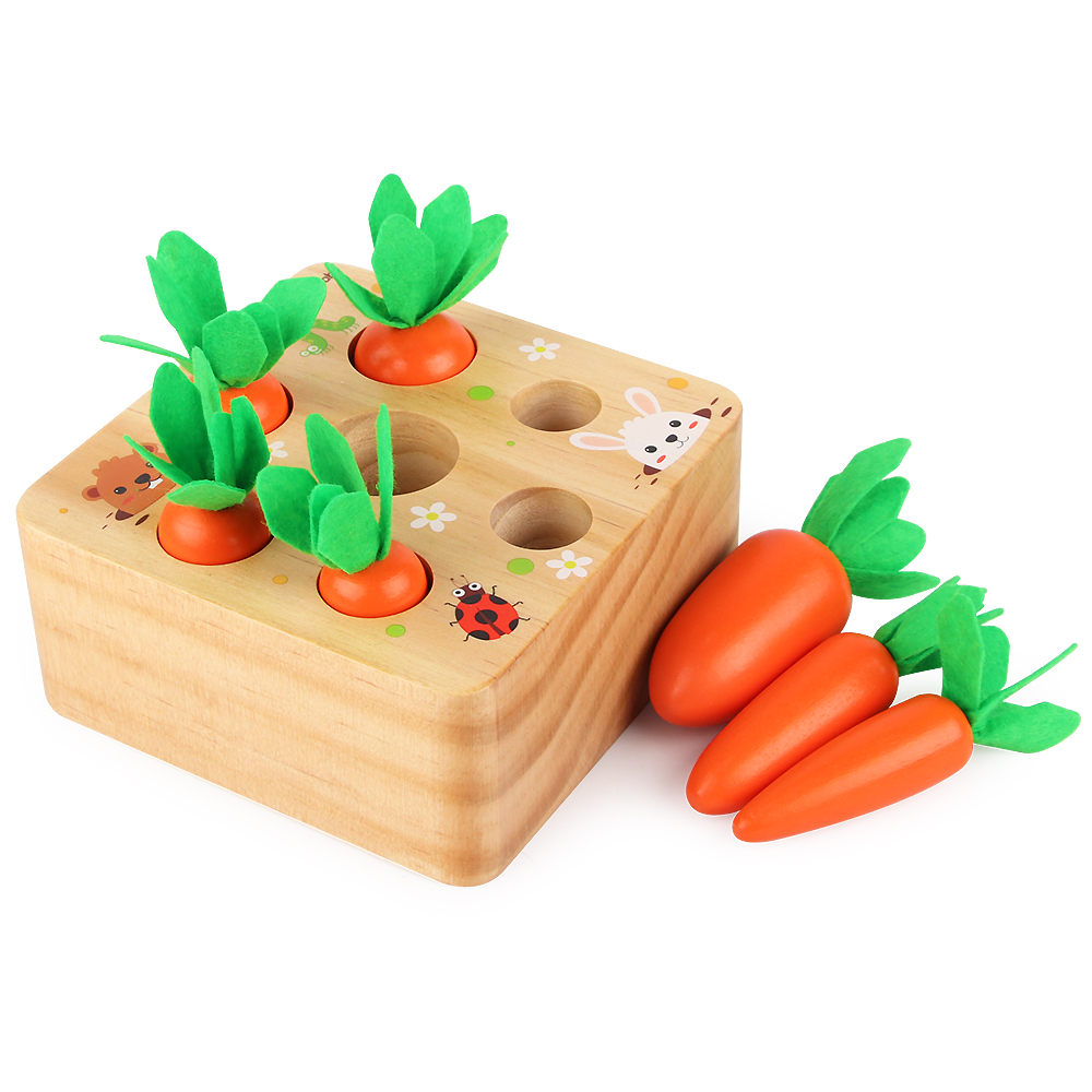 Baby Pull Up Radish Toy Children's Educational Power Spelling Carrot Game 1-2-3-4-5-6 Year Old Girl Male