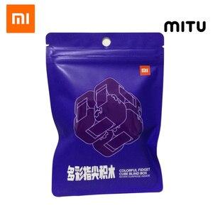 Image 1 - Xiaomi Mitu Colorful Fidget Blind Box Cube Spinner Seven Surprise Fingertip Building Block Bricks Toy Puzzle Assembling 2019 New