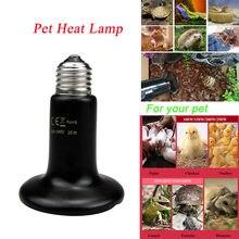 Longa luz de cerâmica para pet, lâmpada de aquecimento infravermelho para animais de estimação 220v, lâmpada para varredura e pet 50w 75w 100w
