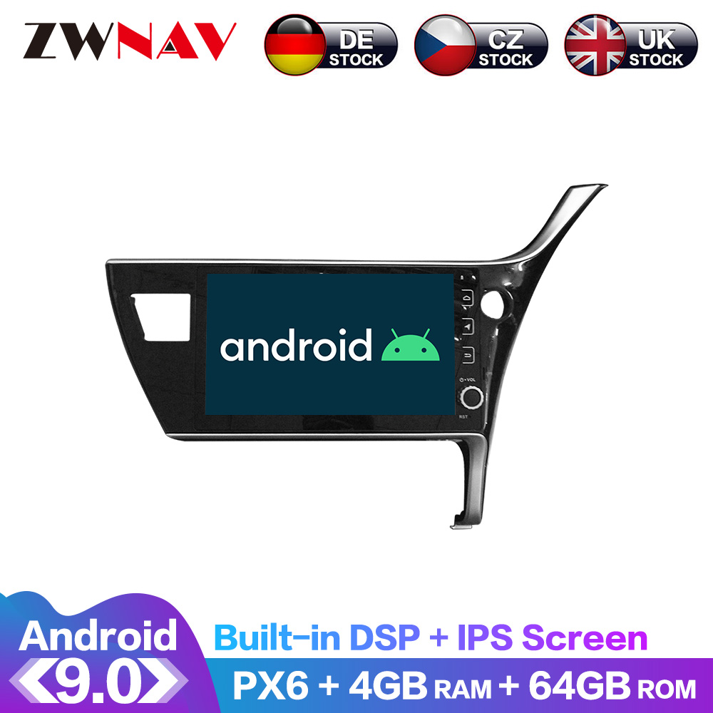 Android 9.0 IPS Screen PX6 DSP For <font><b>Toyota</b></font> <font><b>Corolla</b></font> 2016 2017 <font><b>2018</b></font> Car DVD Player GPS <font><b>Multimedia</b></font> Player Radio Audio Stereo 2 DIN image