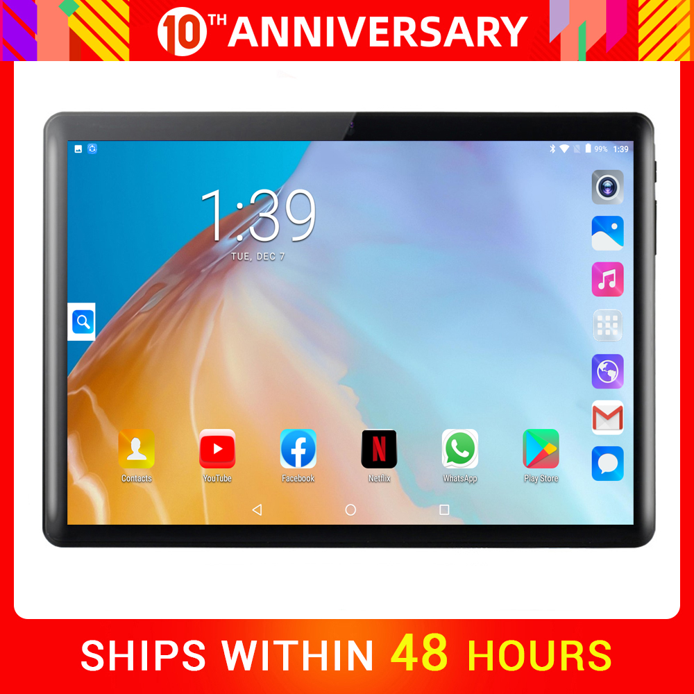 SHELI 2020 Tablet 10 Inch Android 9.0 Tablets Pc 32GB IPS Tablet Laptop Bluetooth WiFi Tab Quad Core Dual SIM Card Tablet 10.1
