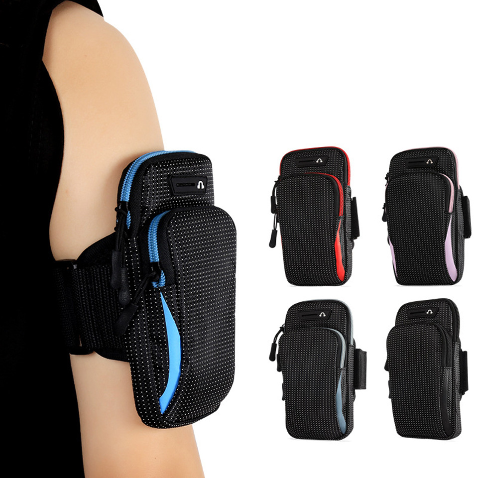 6.5 Inches Sports Bag Armband Case Gym Fitness Running Arm Band Bag Cover Jogging Workout Pouch For Mobile Phone Key Money Card